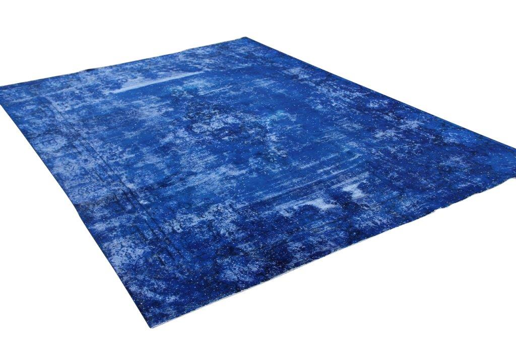 Vintage vloerkleed, blauw, 384cm x 272cm