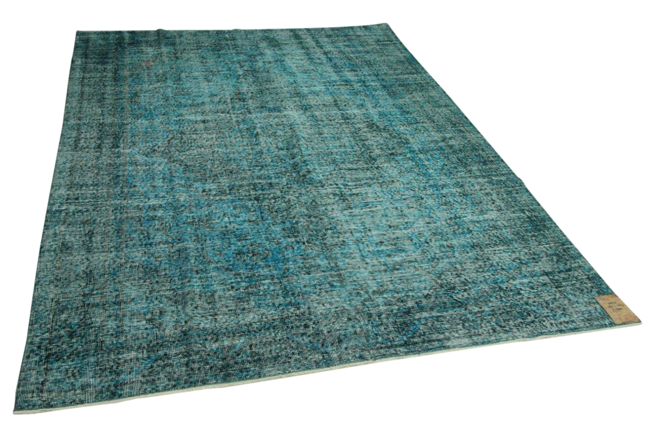 vintage vloerkleed blauw 285cm x 207cm