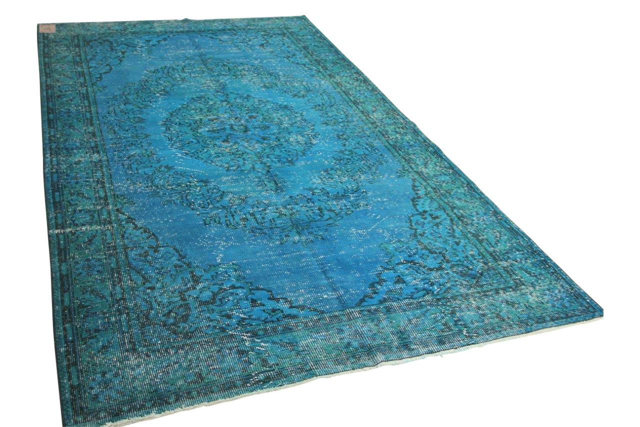 Fel blauw vloerkleed 313cm x 191cm nr 1137