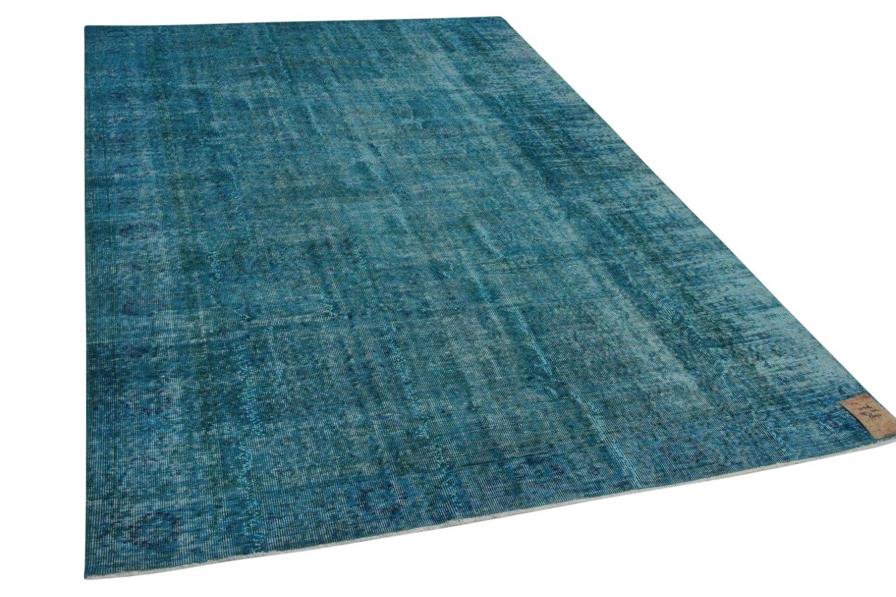 blauw vintage vloerkleed 21596