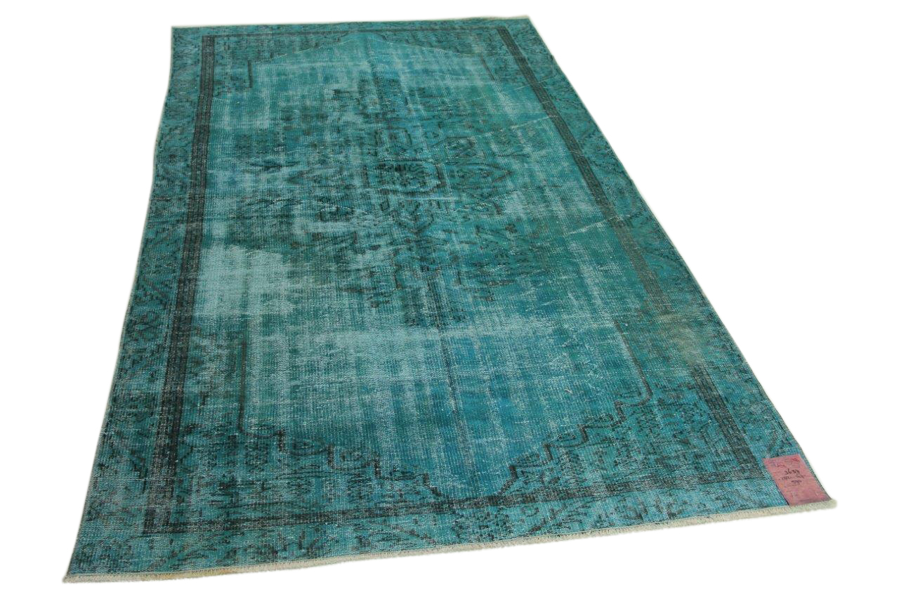 vintage vloerkleed blauw 282cm x 167cm