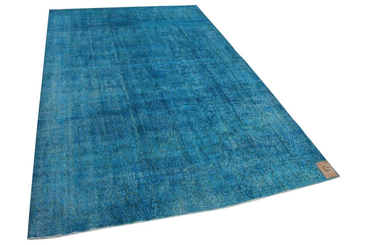 blauw vloerkleed 31641