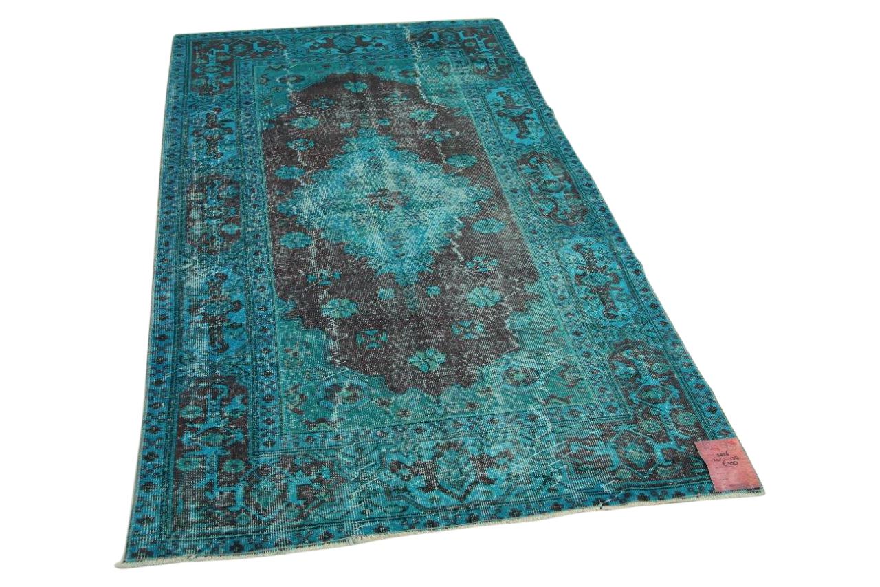 Blauw vloerkleed 244cm x 138cm