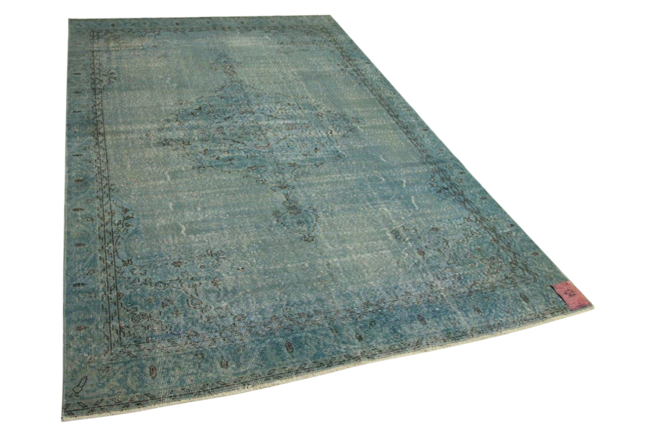 Blauw vintage vloerkleed   4367