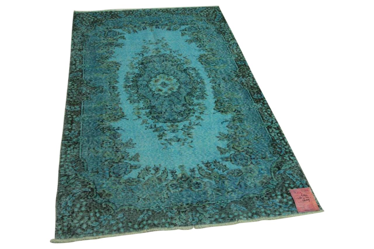 Blauw vloerkleed 218cm x 121cm nr4609