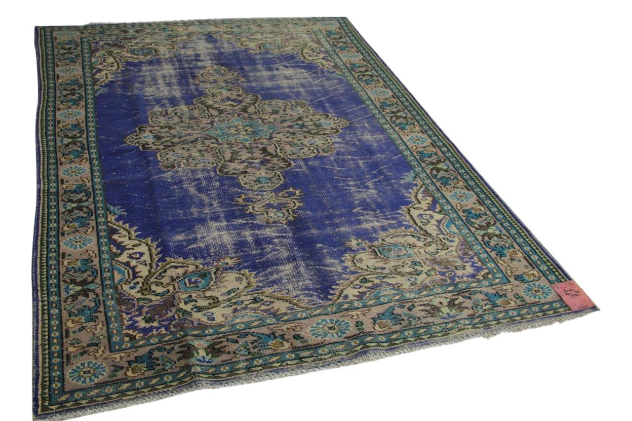 Blauw vloerkleed 290cm x 188cm nr61380