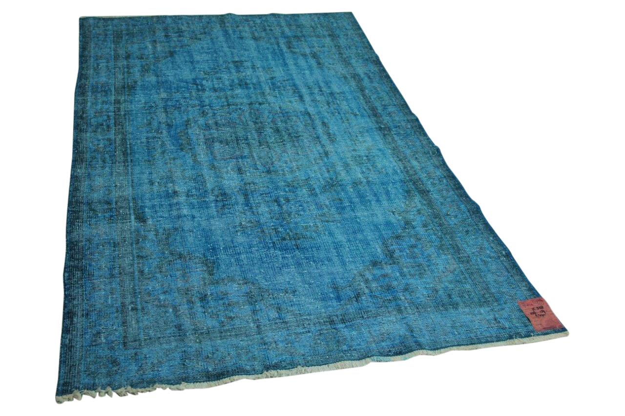 Blauw vloerkleed 258cm x 159cm nr75338