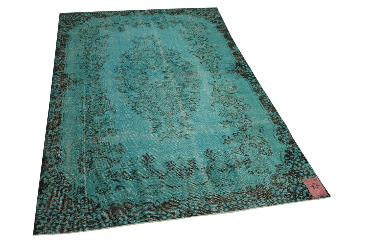 Blauw vloerkleed 256cm x 164cm nr75421