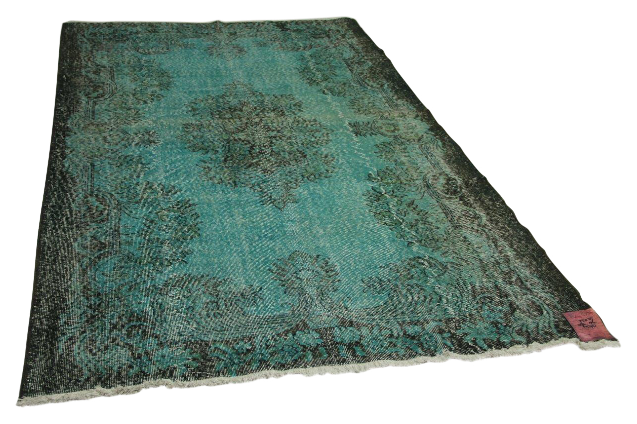 Blauw vloerkleed 284cm x 176cm nr95035