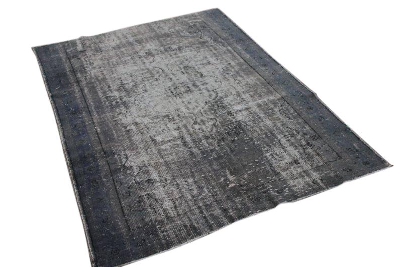 Blauw grijs vintage vloerkleed 259cm x 175cm  (nr2128)