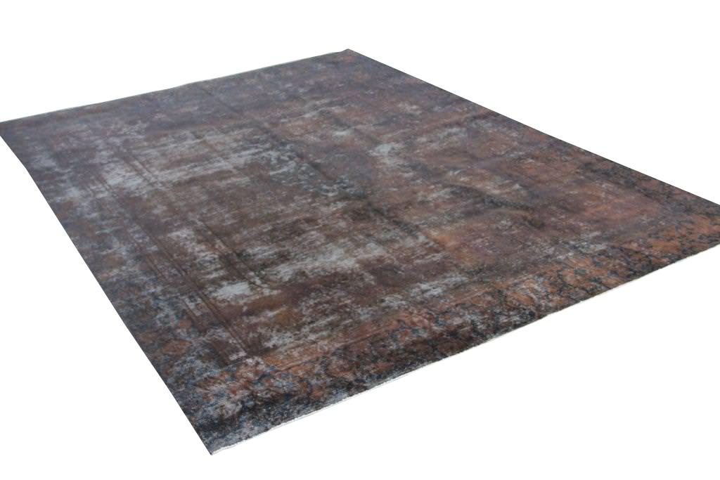 Bruin groot vintage vloerkleed 368cm x 268cm  (nr50757)