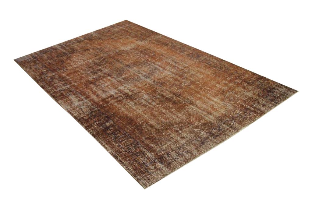 Vintage vloerkleed bruin 247cm x 158cm