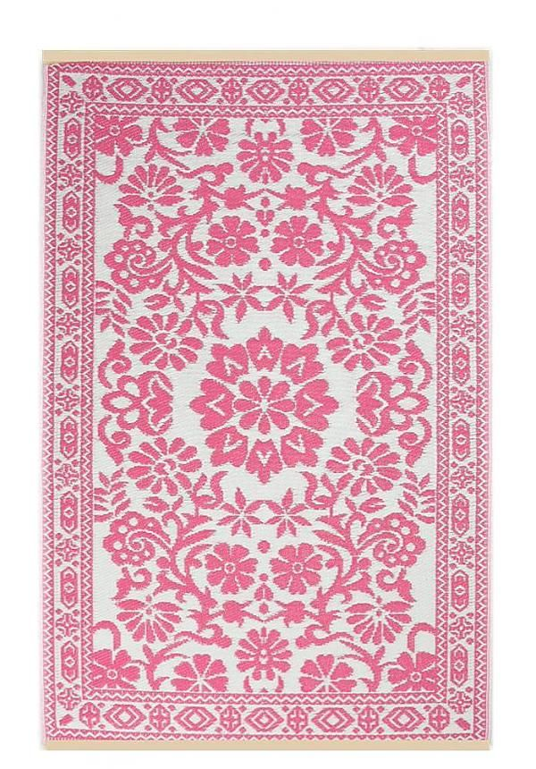 Buitenkleed roze wit