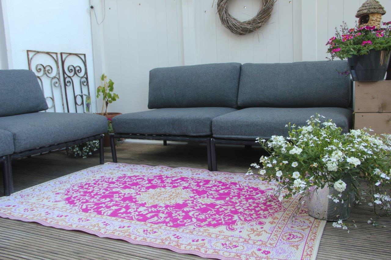 buitenkleed van rozenkelim