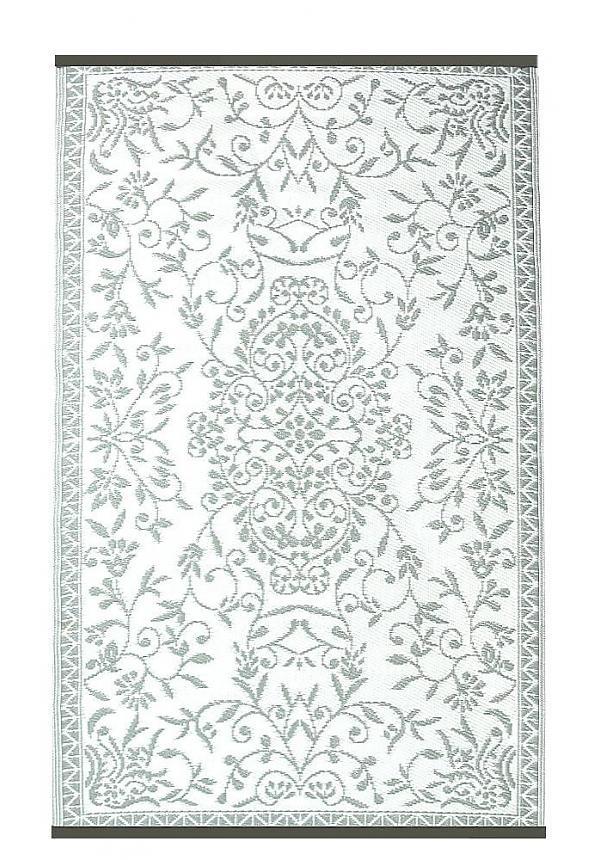 Buitenkleed wit met grijs
