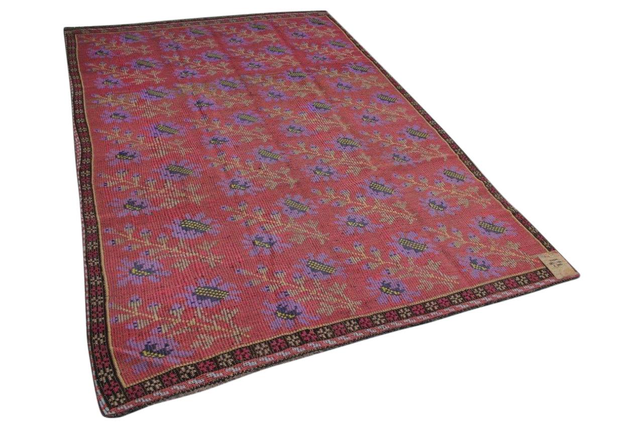 Cicem vloerkleed rood met paars 285cm x 190cm