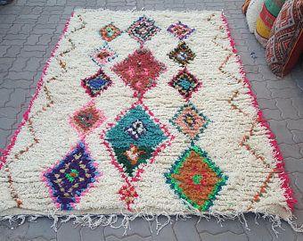 azilal vloerkleed 54831 270cm x 170cm hoogpolig vloerkleed uit marokko
