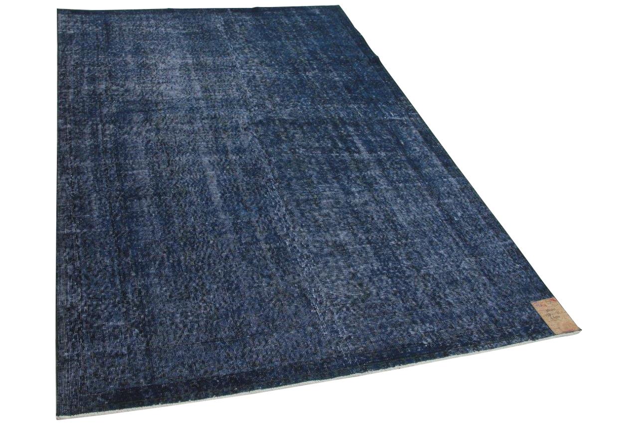 Vintage vloerkleed donkerblauw