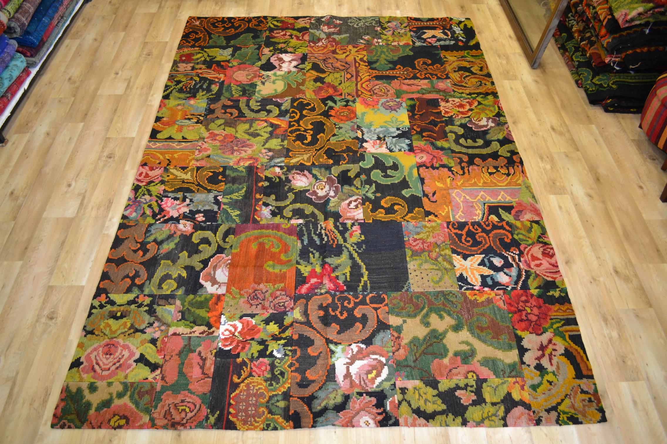 Kelim patchwork  1931 (292cm x 206cm) Gereserveerd!