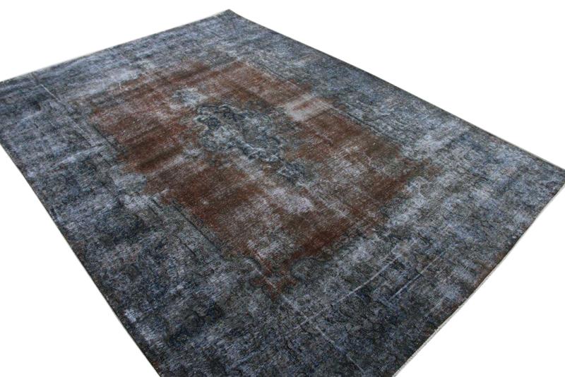 30 tot 80 jaar oud opnieuw gekleurd vloerkleed  (geschoren en gewassen) 398cm x 292cm, no 631