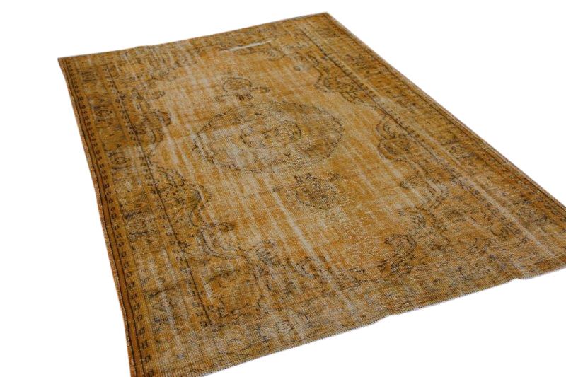 Geel vintage vloerkleed 297cm x 186cm  (nr2118)