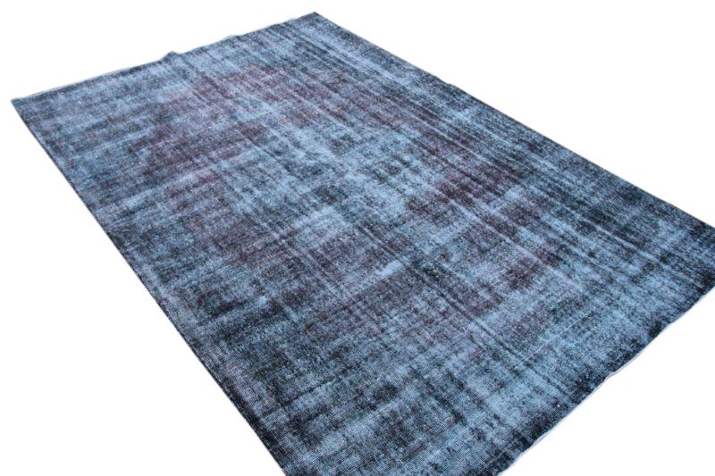 Vintage vloerkleed,blauw, 305cm x 208cm