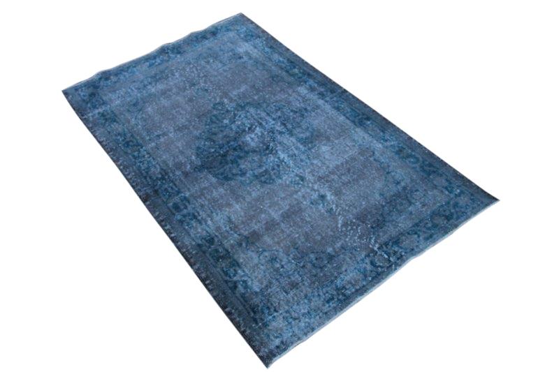 Vintage vloerkleed, blauw, 196cm x 120cm