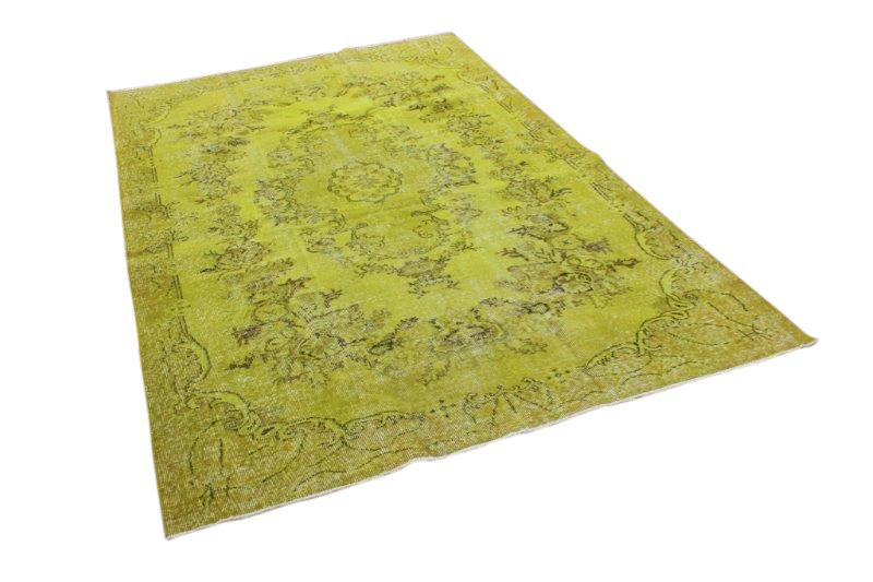 Gif groen vintage tapijt 271cm x 176cm  (nr1136)