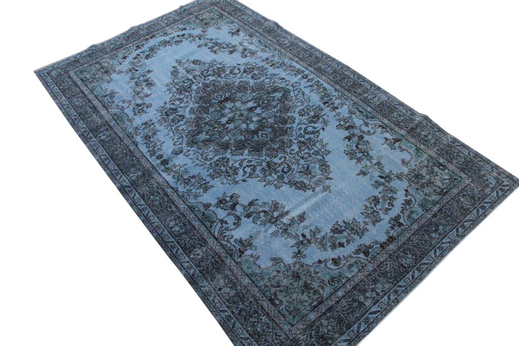 Grijs blauw vintage vloerkleed nr 943 (283cm x 177cm)