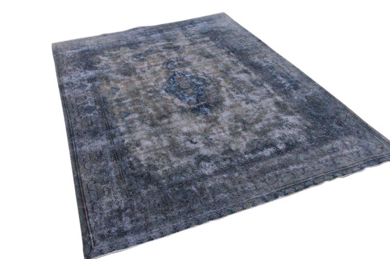 Gereseveerd grijs met blauw vintage vloerkleed 325cm x 231cm  (nr54189)
