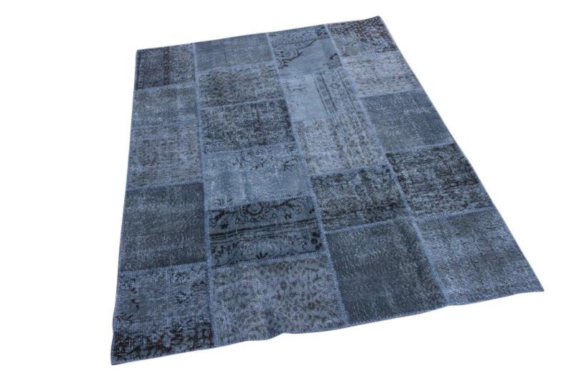 Grijs patchwork vloerkleed 235cm x 168cm 5505