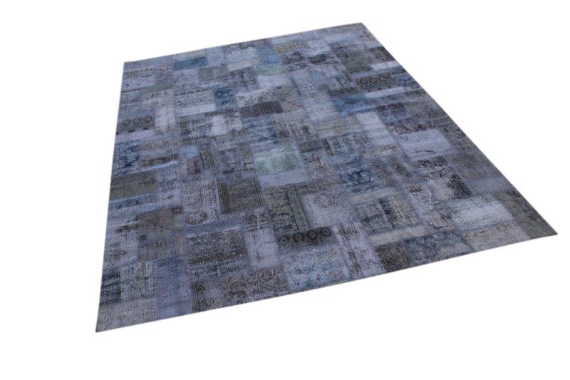 Grijs vintage patchwork tapijt  300cm x 200cm (nr7296)