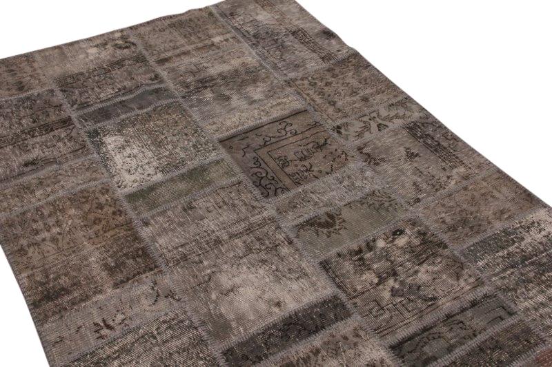 Patchwork vloerkleed grijs 240cm x 170cm 7441