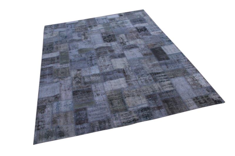 Patchwork vloerkleed, grijs, 300cm x 200cm