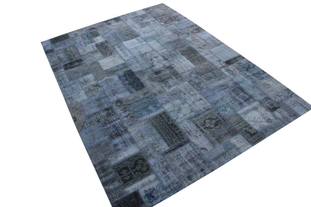 Patchwork vloerkleed, grijs, 299cm x 214cm