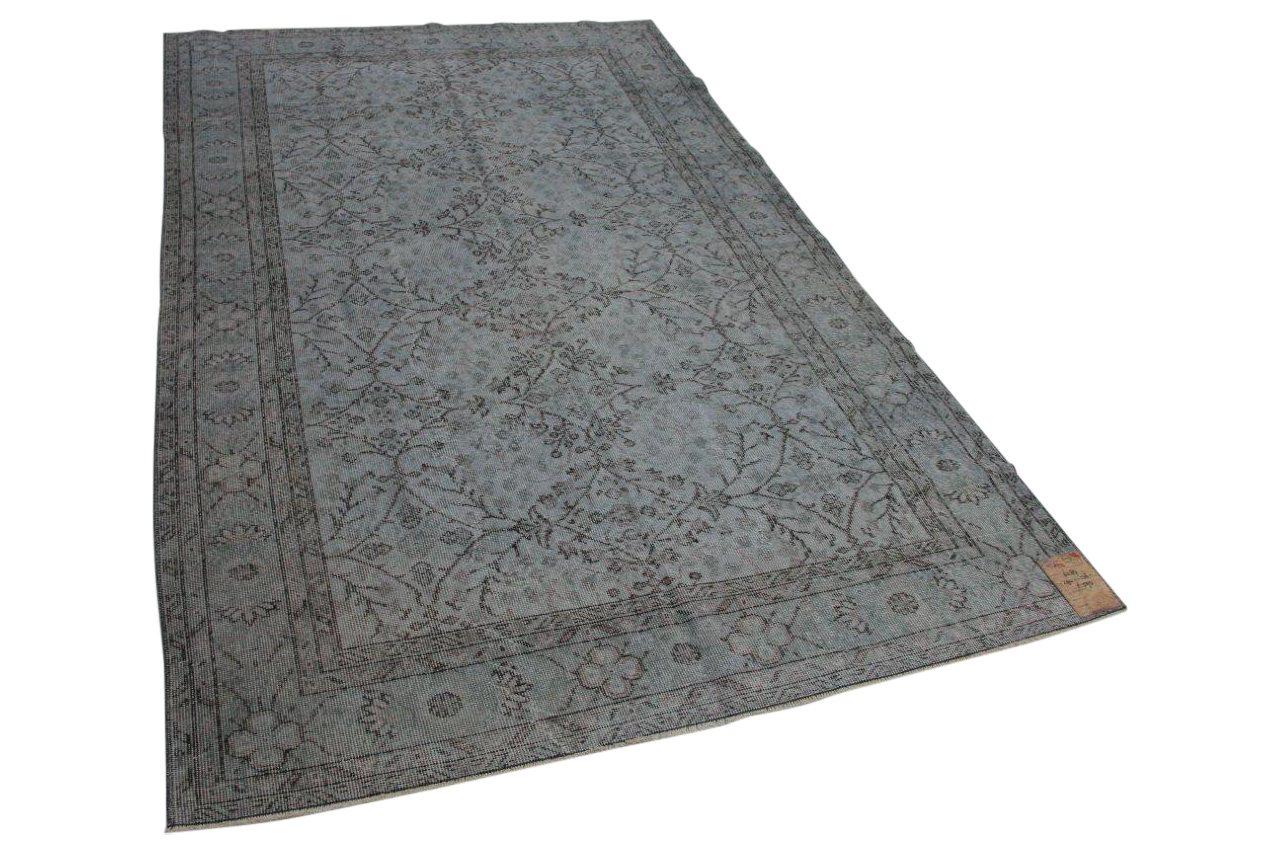 Grijs blauw vintage vloerkleed