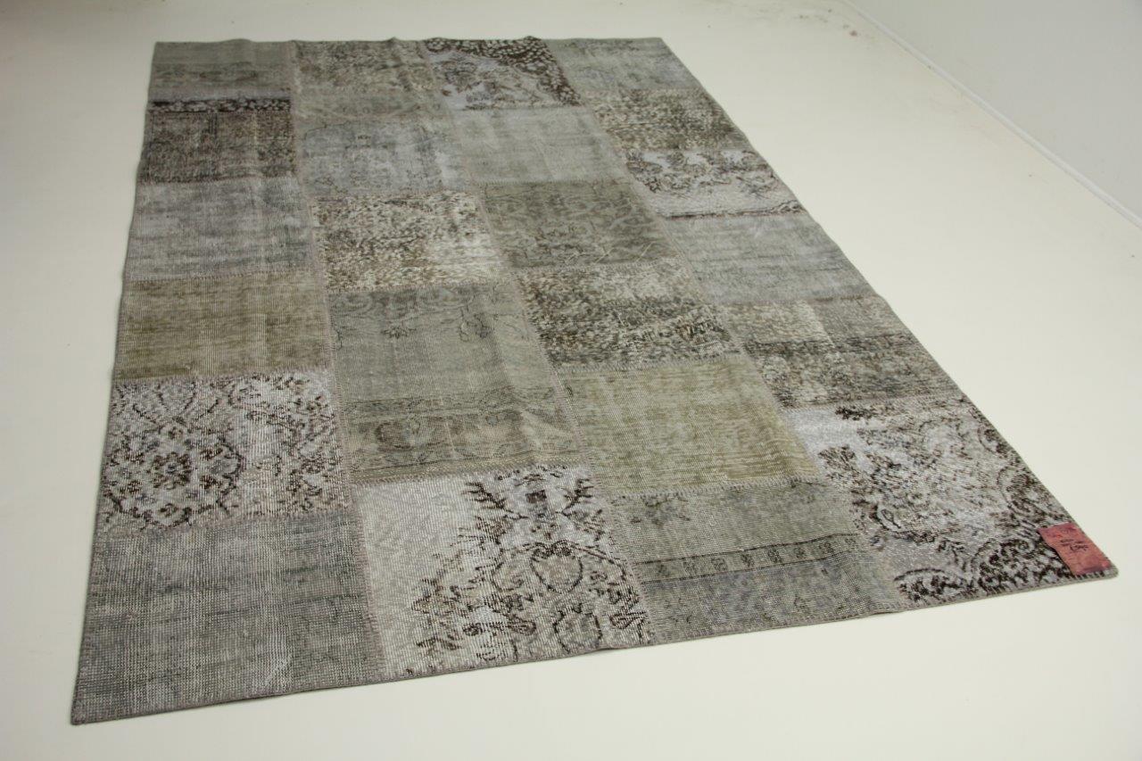 Grijs patchwork vloerkleed 300cm x 200cm nr1024