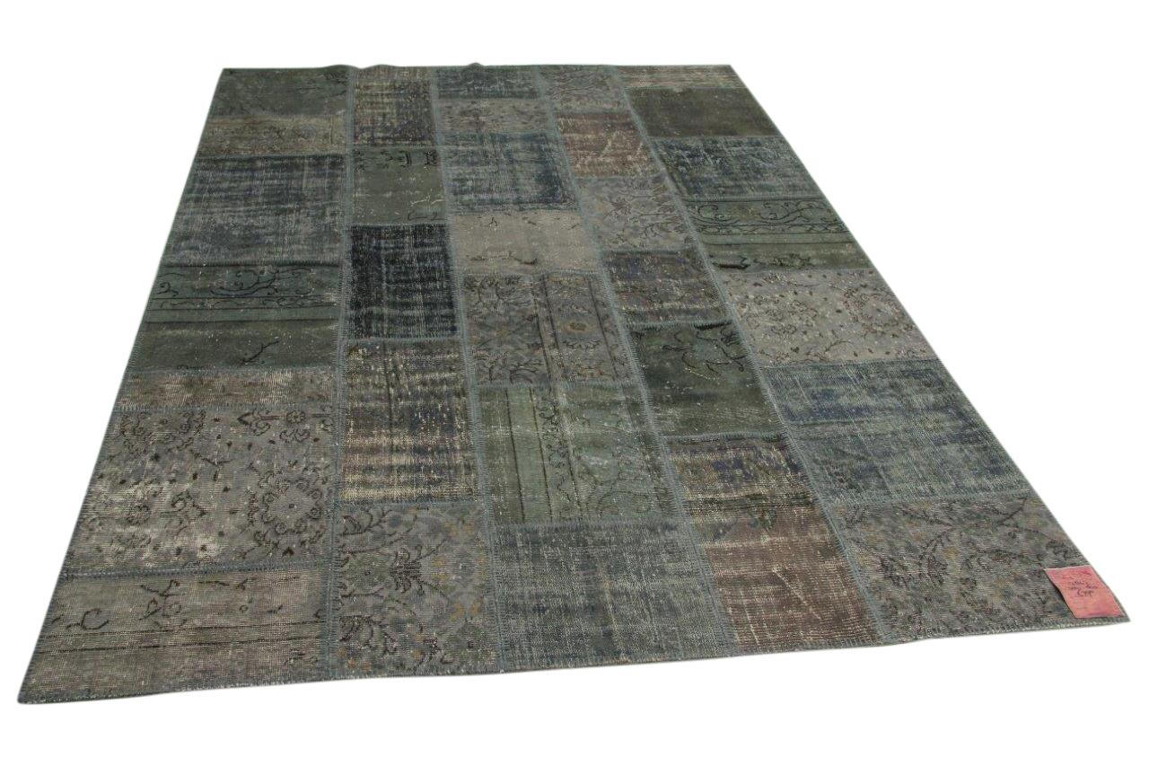 Grijs patchwork vloerkleed 300cm x 200cm nr17847