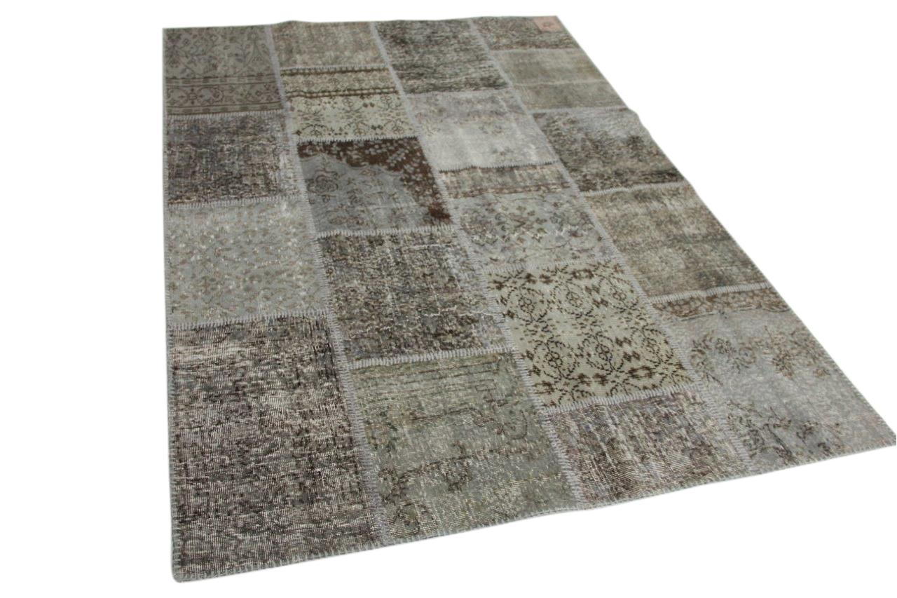 grijs patchwork vloerkleed 240cm x 170cm 8128