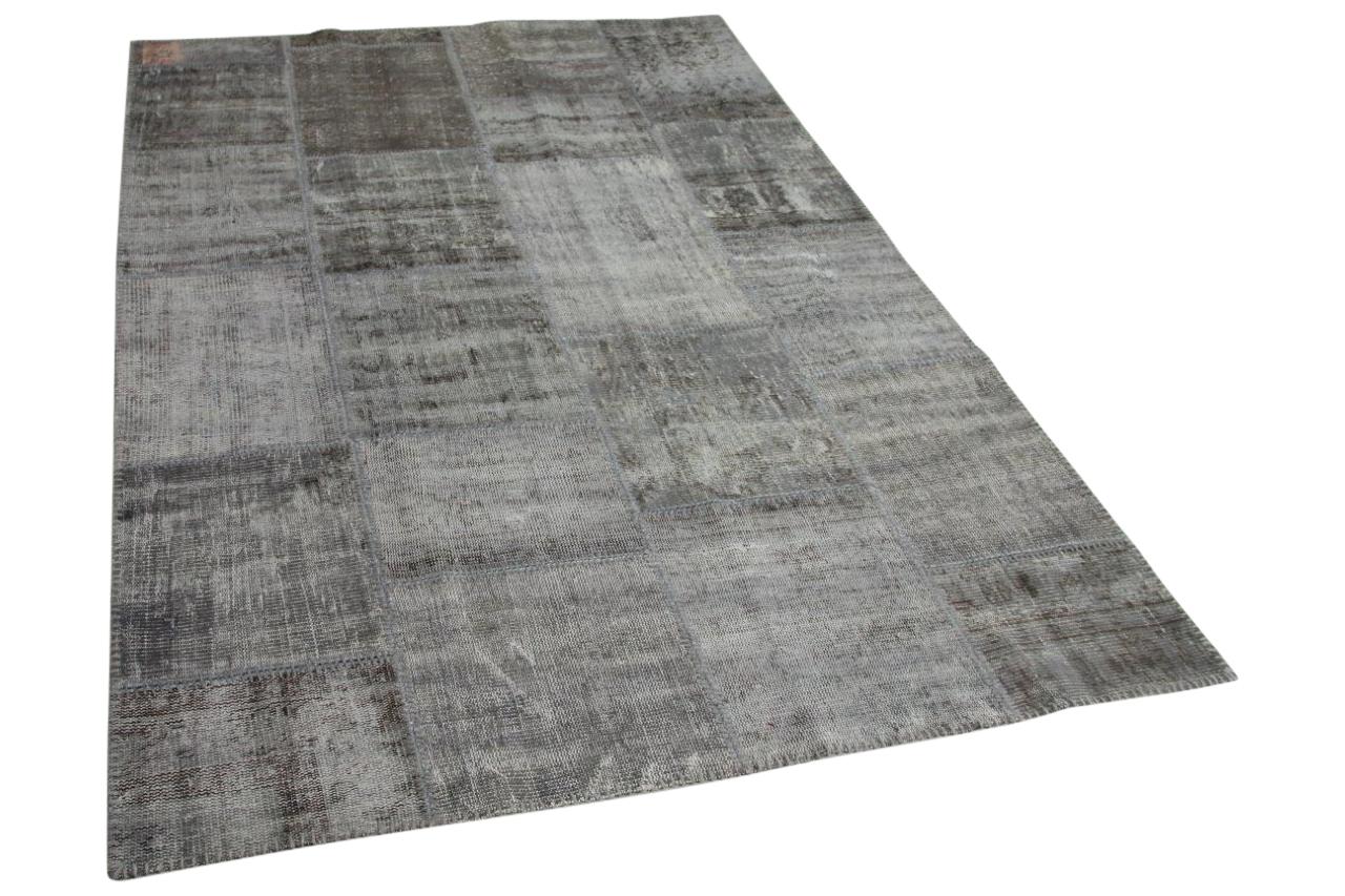 grijs patchwork vloerkleed 240cm x 170cm  9225