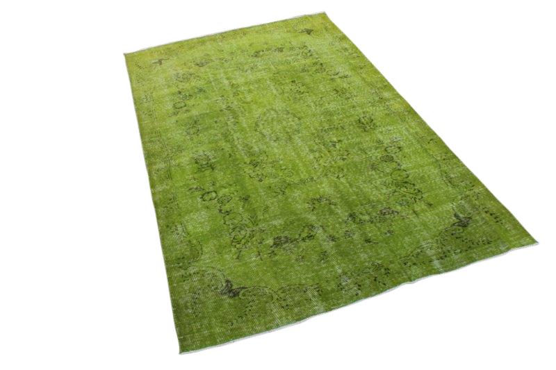 Vintage vloerkleed, gras groen, 273cm x 169cm
