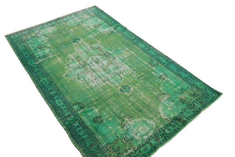 Vintage vloerkleed, groen, 279cm x 169cm