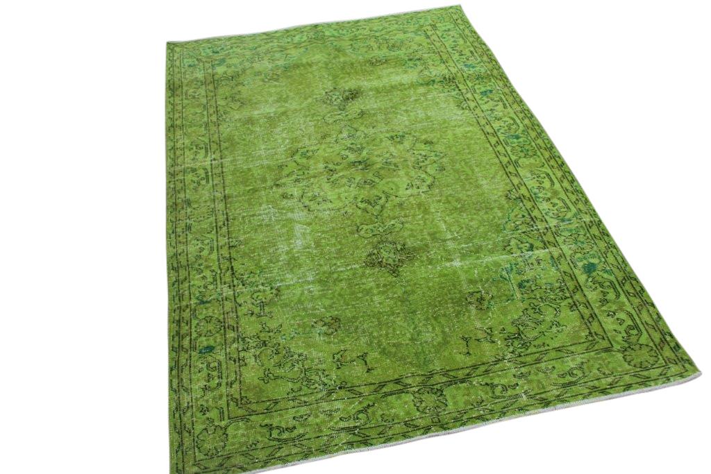 Groen vintage vloerkleed 243cm x 157cm  (nr4791)