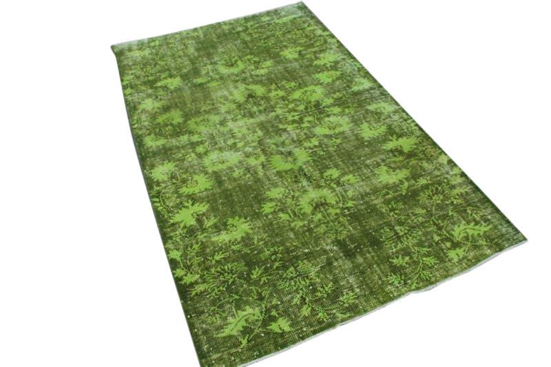 Groen vintage vloerkleed 256cm x 157cm nr4792