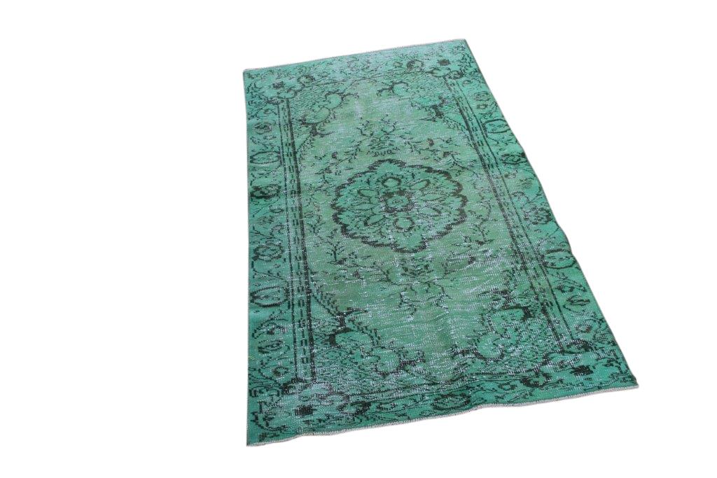 Groen vintage vloerkleed 210cm x 111cm  (nr4882)