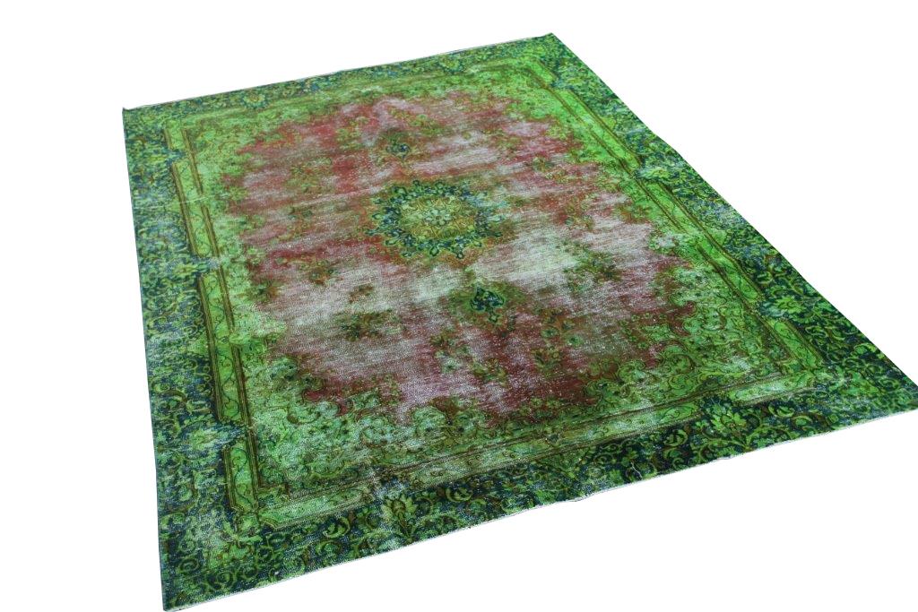 Groen vintage vloerkleed 265cm x 191cm  (nr50723)