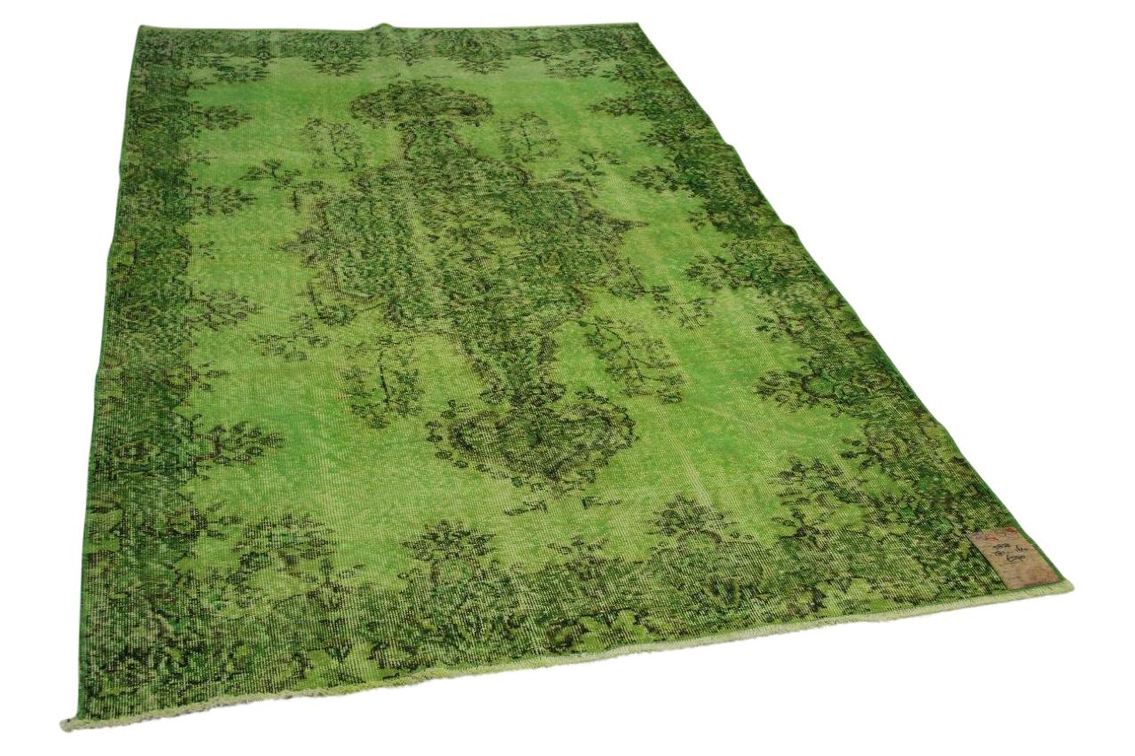 Vintage vloerkleed groen