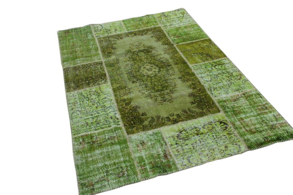 Groen patchwork vloerkleed 240cm x 170cm (nr5888)