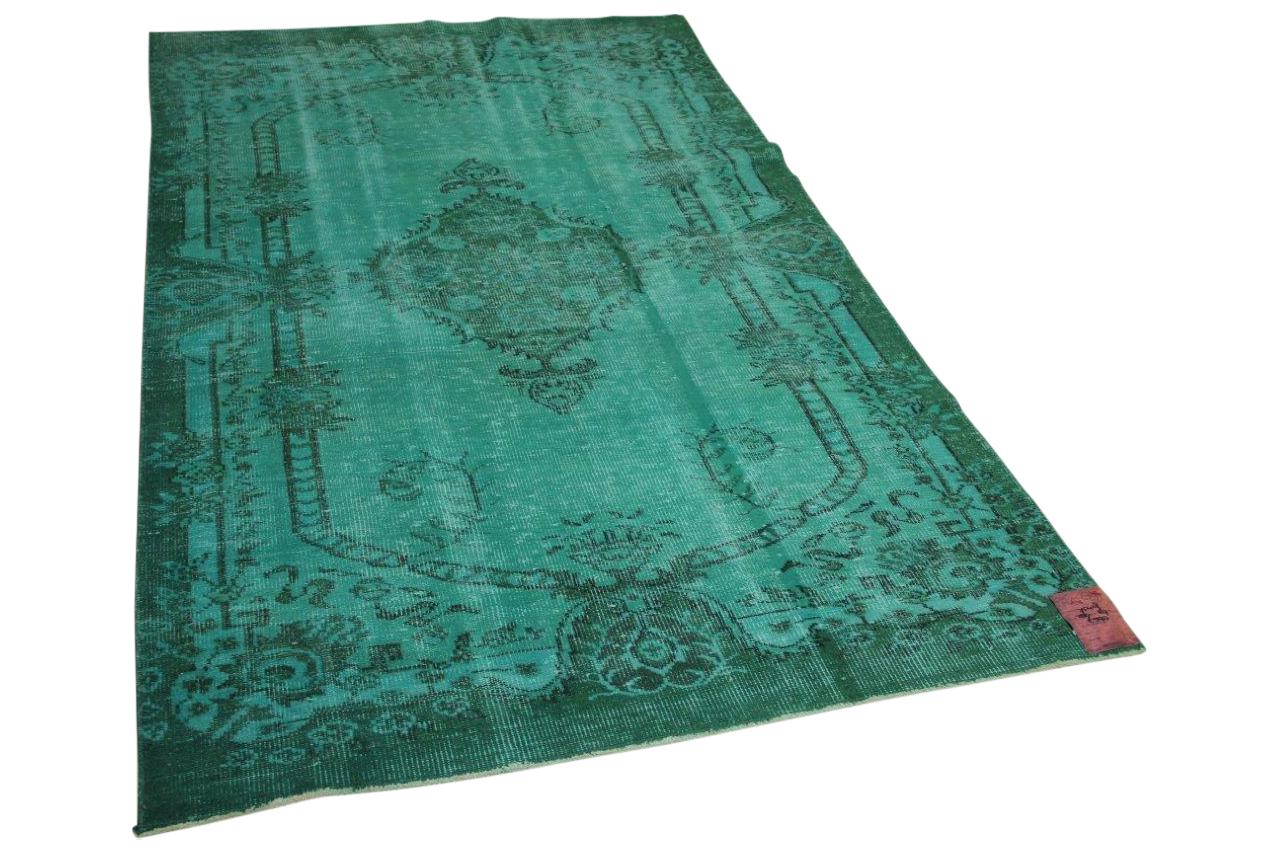 vintage vloerkleed groen 280cm x 167cm