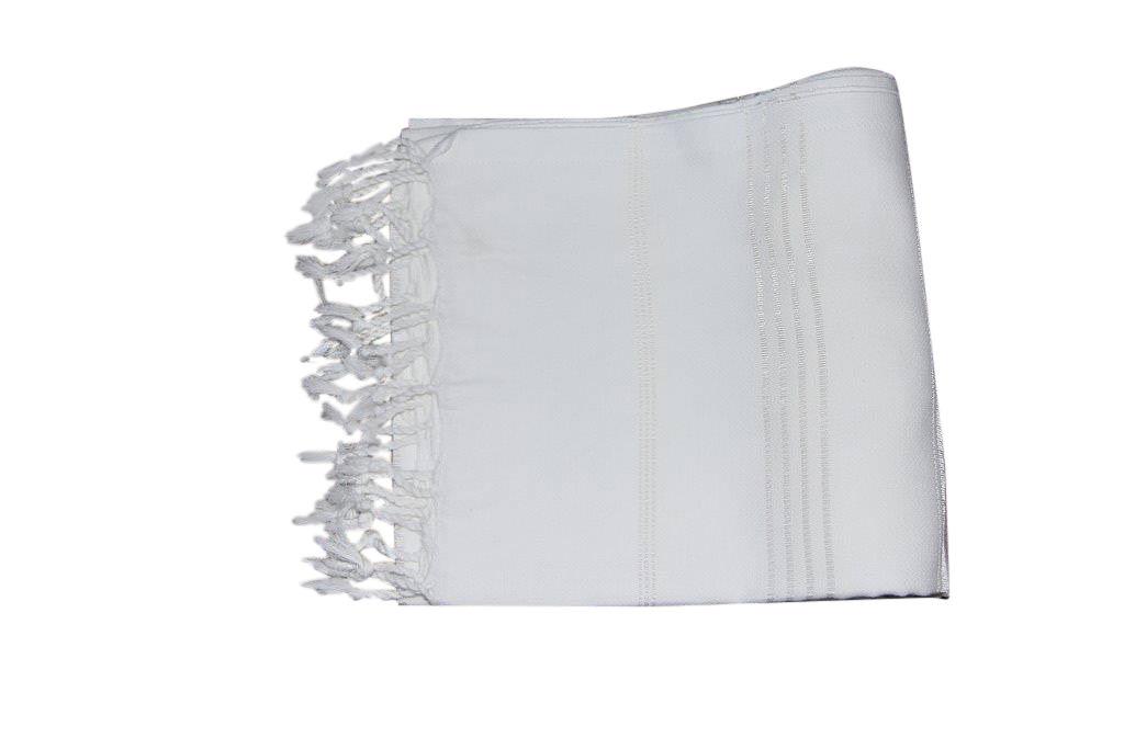 Hamamdoek, wit 100% katoen 100cm x 180cm 100% geweven katoenen handdoek.